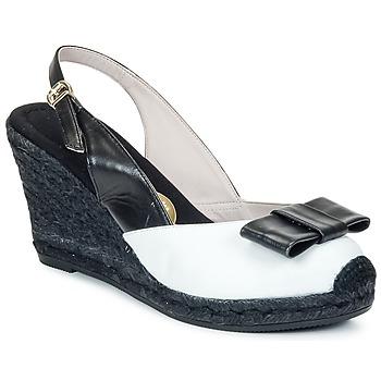 kengät Naiset Sandaalit ja avokkaat RAS FROI Black / White