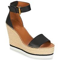 kengät Naiset Espadrillot See by Chloé SB26152 Black / White