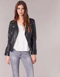 vaatteet Naiset Nahkatakit / Tekonahkatakit Oakwood 60861 Black