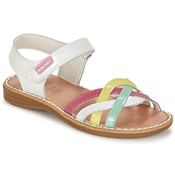 kengät Tytöt Sandaalit ja avokkaat Pablosky ATINA White / Monivärinen