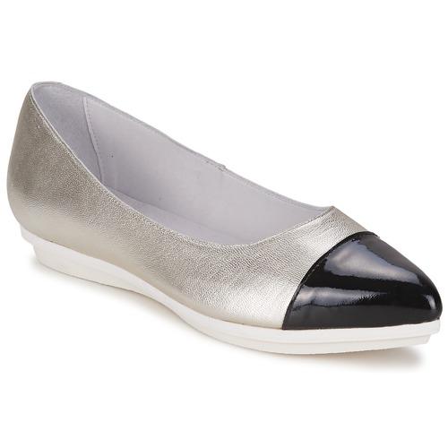 kengät Naiset Balleriinat Alba Moda DRINITE Hopea / Black