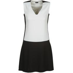vaatteet Naiset Lyhyt mekko Joseph DORIA Musta / Valkoinen