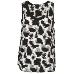 vaatteet Naiset Hihattomat paidat / Hihattomat t-paidat Joseph DEBUTANTE Black / White / Grey
