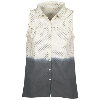 vaatteet Naiset Paitapusero / Kauluspaita Teddy Smith CAMILLE Blue / Ecru