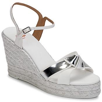 kengät Naiset Sandaalit ja avokkaat Castaner BESSIE White / Hopea