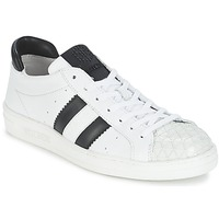 kengät Naiset Matalavartiset tennarit Bikkembergs BOUNCE 594 LEATHER White / Black