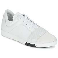 kengät Miehet Matalavartiset tennarit Bikkembergs OLYMPIAN LEATHER White
