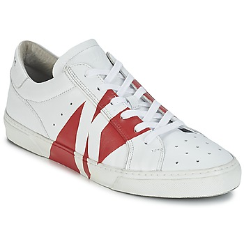 kengät Miehet Matalavartiset tennarit Bikkembergs RUBB-ER 668 LEATHER White / Red