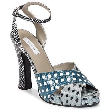 kengät Naiset Sandaalit ja avokkaat Marc Jacobs Elap Sininen / Valkoinen
