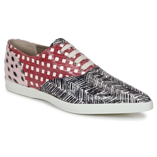 kengät Naiset Derby-kengät Marc Jacobs Elap Musta / Valkoinen / Punainen