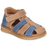 kengät Pojat Sandaalit ja avokkaat Citrouille et Compagnie FRINOUI Ruskea / Sininen