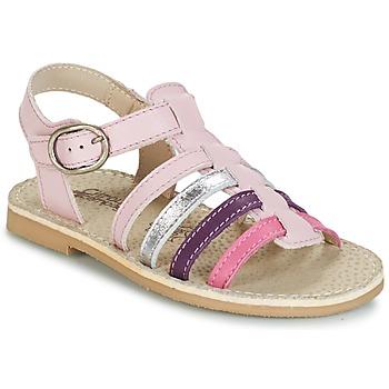 kengät Tytöt Sandaalit ja avokkaat Citrouille et Compagnie JASMA Pink / Violet