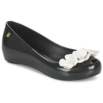 kengät Naiset Balleriinat Melissa ULTRAGIRL XI Black / White