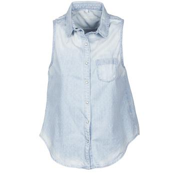 vaatteet Naiset Lyhythihainen paitapusero Pepe jeans POCHI Blue