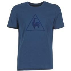 vaatteet Miehet Lyhythihainen t-paita Le Coq Sportif ABRITO T Laivastonsininen