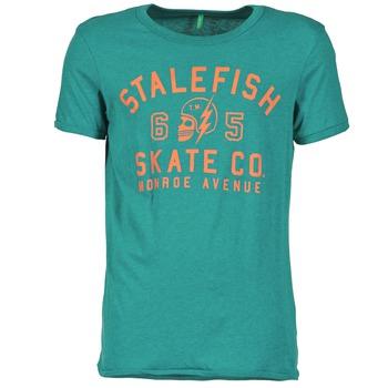 vaatteet Miehet Lyhythihainen t-paita Benetton IXIDINE Green
