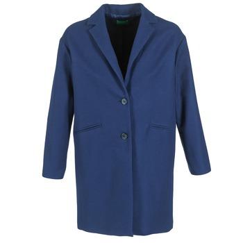 vaatteet Naiset Paksu takki Benetton AGRETE Laivastonsininen