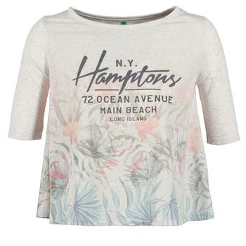 vaatteet Naiset Lyhythihainen t-paita Benetton ESQUIQUO White / Monivärinen