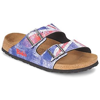 kengät Miehet Sandaalit Birki's SANTIAGO Flag / Tan / Sininen / Jack