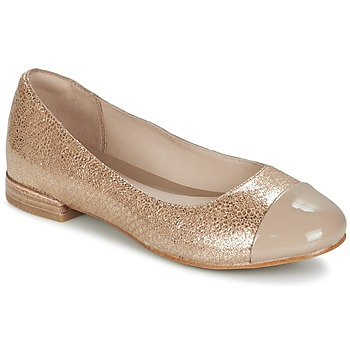 kengät Naiset Balleriinat Clarks FESTIVAL GOLD Champagne