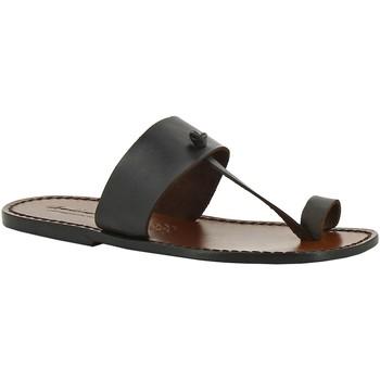 kengät Naiset Sandaalit Gianluca - L'artigiano Del Cuoio 554 U MORO CUOIO Testa di Moro