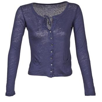 vaatteet Naiset Neuleet / Villatakit Majestic BATHILDE Blue
