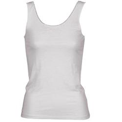 vaatteet Naiset Hihattomat paidat / Hihattomat t-paidat Majestic 701 White
