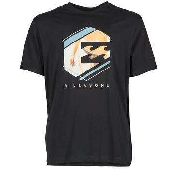 vaatteet Miehet Lyhythihainen t-paita Billabong HEXAG SS Black