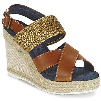 kengät Naiset Sandaalit ja avokkaat Napapijri BELLE Camel / Kulta