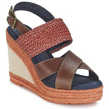 kengät Naiset Sandaalit ja avokkaat Napapijri BELLE Brown / Fonce / Red