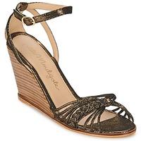 kengät Naiset Sandaalit ja avokkaat Petite Mendigote COLOMBE Musta / Kulta