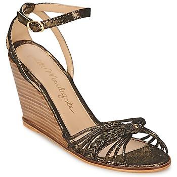 kengät Naiset Sandaalit ja avokkaat Petite Mendigote COLOMBE Black / Kulta