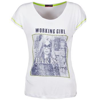 vaatteet Naiset Lyhythihainen t-paita La City TMCD3 White