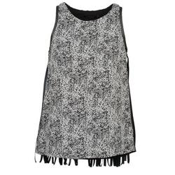 vaatteet Naiset Hihattomat paidat / Hihattomat t-paidat Color Block PINECREST Grey / Black / White
