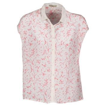 vaatteet Naiset Lyhythihainen paitapusero Lola CANYON Valkoinen / Punainen