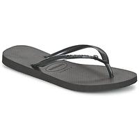 kengät Naiset Varvassandaalit Havaianas SLIM CRYSTAL GLAMOUR SWAROVSKI Musta