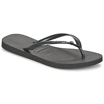kengät Naiset Varvassandaalit Havaianas SLIM CRYSTAL GLAMOUR SWAROVSKI Black