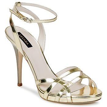 kengät Naiset Sandaalit ja avokkaat Escada AS683 Kulta