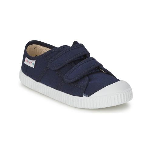 kengät Lapset Matalavartiset tennarit Victoria BLUCHER LONA DOS VELCROS Laivastonsininen