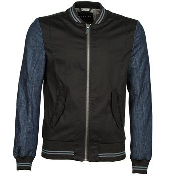 vaatteet Miehet Pusakka Sisley 2ID2533A9 Black / Blue