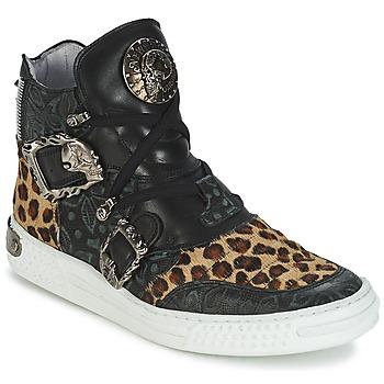 kengät Naiset Korkeavartiset tennarit New Rock ANTERLO Leopardi