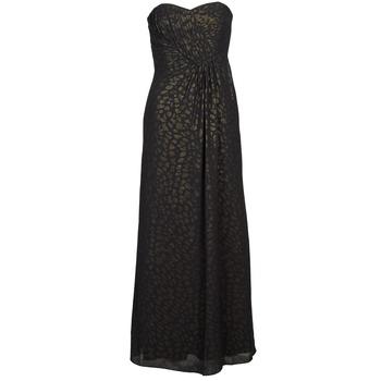 vaatteet Naiset Pitkä mekko Manoukian 612930 Black / Kulta