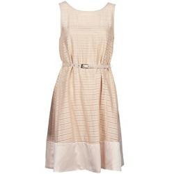 vaatteet Naiset Lyhyt mekko Manoukian 613374 Beige