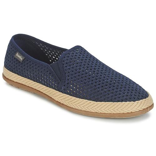 kengät Miehet Espadrillot Bamba By Victoria COPETE ELASTICO REJILLA TRENZA Laivastonsininen