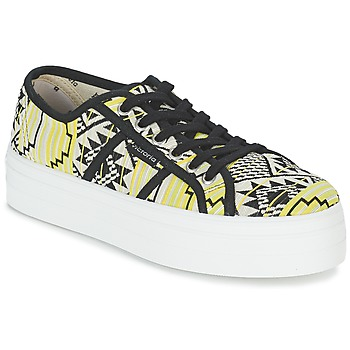kengät Naiset Matalavartiset tennarit Victoria BASKET ETNICO PLATAFORMA Black / Yellow