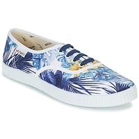 kengät Naiset Matalavartiset tennarit Victoria INGLES FLORES Y CORAZONES White / Blue