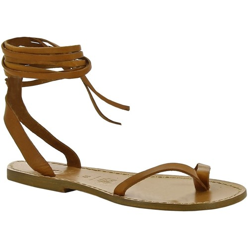 kengät Naiset Sandaalit ja avokkaat Gianluca - L'artigiano Del Cuoio 534 D CUOIO CUOIO Cuoio