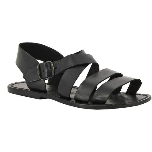 kengät Naiset Sandaalit ja avokkaat Gianluca - L'artigiano Del Cuoio 508 U NERO CUOIO nero