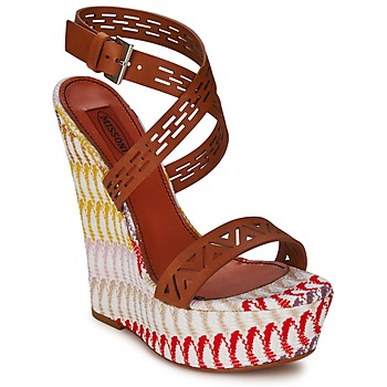 kengät Naiset Sandaalit ja avokkaat Missoni XM015 Ruskea / Monivärinen