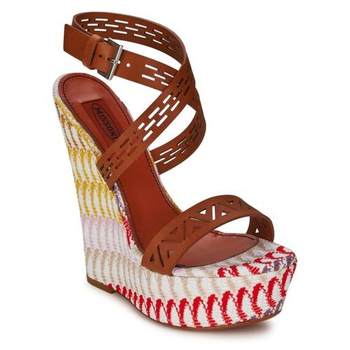 kengät Naiset Sandaalit ja avokkaat Missoni XM015 Brown / Multicolour